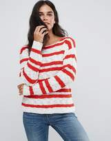 Blend She Gilli Striped Knit Jumper