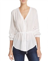 Bella Dahl Tie-Waist Button-Down Top
