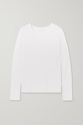 CALÉ Aimee Supima Cotton-jersey Top - White