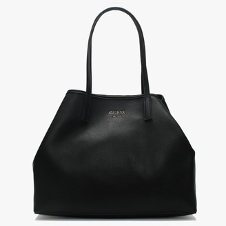 GUESS Large Vikky Black Slouchy Tote Bag