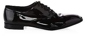 Salvatore Ferragamo Men's Patent Leather Lace-Up Oxford Shoes