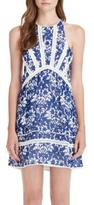 Saylor Floral Royal Dress