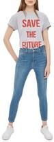 Topshop Petite Women's Jamie High Waist Crop Skinny Jeans