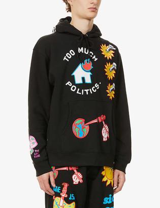 Obey Slogan-print cotton-blend hoody