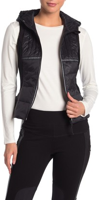 Blanc Noir Reflective Quilted & Hooded Vest
