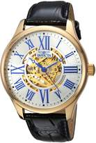 Invicta Men's 'Vintage' Automatic Stainless Steel and Leather Casual Watch, Color:Black (Model: 23635)