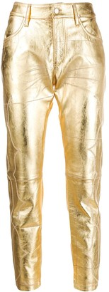 Golden Goose embroidered detail cropped trousers