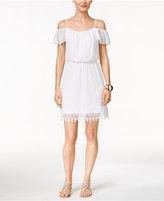 Thalia Sodi Lace Off-The-Shoulder Blouson Dress, Created for Macy's