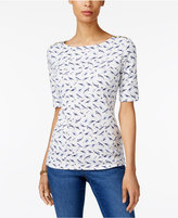 Karen Scott Printed Button-Detail Top, Created for Macy's