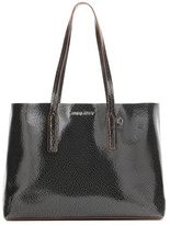 Miu Miu Glossed-leather shopper