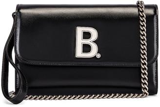 Balenciaga B Continental Chain Bag in Black | FWRD