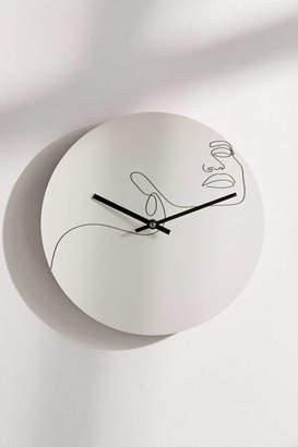 "Deny Designs Explicit Design For Deny Dreamy Girl 12"" Wall Clock"