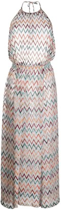Missoni Mare Embroidered Zig-Zag Dress