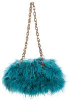 Alberta Ferretti Feather Embellished Shoulder Bag