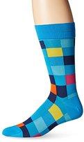 Bugatchi Men's Color Block Fancy Sock