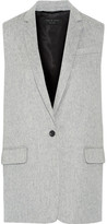 Rag & Bone Frankie Brushed Wool-blend Gilet - Light gray