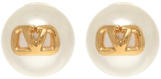 Valentino VLOGO faux-pearl earrings