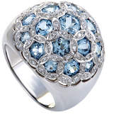 Heritage 18K 0.32 Ct. Tw. Diamond & Topaz Ring
