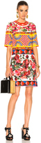 Dolce & Gabbana Printed Textured Cotton Dress