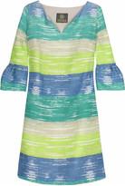 Paint stripe mini dress