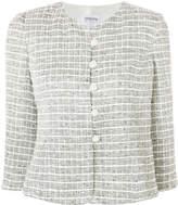 Armani Collezioni cropped check jacket