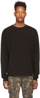 John Elliott Black University Long Sleeve T-Shirt