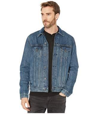 Lucky Brand Dark Blue Tencel Trucker Jacket