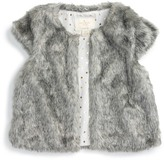 Kate Spade faux fur vest (Toddler & Little Girls)