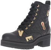Love Moschino Women's Patchwork Combat Boots