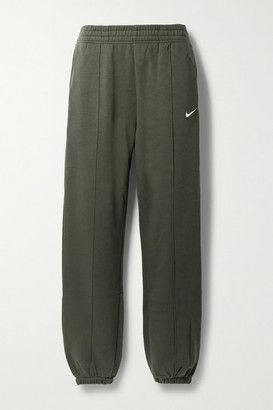 Nike Sportswear Cotton-blend Jersey Track Pants - Army green