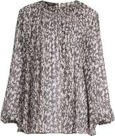 Giambattista Valli Abstract floral-print silk-georgette blouse