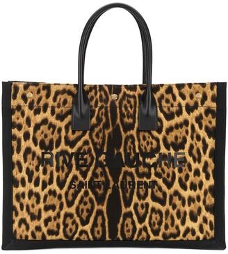 Saint Laurent Rive Gauche leopard-print tote bag