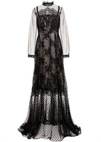 Erdem Petula Polka-dot Tulle And Lace Gown