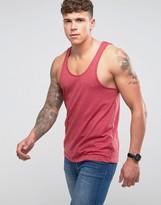 Asos Vest In Standard Fit In Red