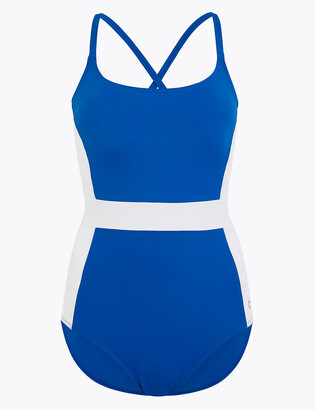 Marks and Spencer Colour Block Scoop Neck Swimsuit