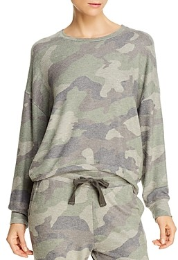 Sundry Camouflage Printed Sweatshirt