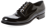 Dolce & Gabbana Broguing Lace-Up Derby Shoe