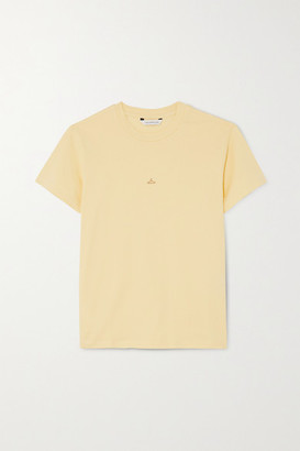 HOLZWEILER Suzana Appliqued Cotton-jersey T-shirt - Yellow