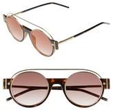 Marc Jacobs Women's 49Mm Round Sunglasses - Dark Havana