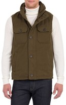 Rainforest Men's Water Resistant Down Vest With Stowaway Hood