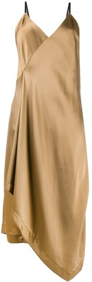 Helmut Lang Asymmetric Slip Midi Dress