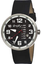 Simplify The 800 - Black Suede/Black Analog Watches