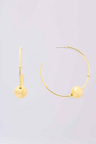 Diane von Furstenberg Gold Medium Hoop With Ball Earring