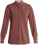 Altuzarra Chika geometric-print silk crepe de Chine blouse