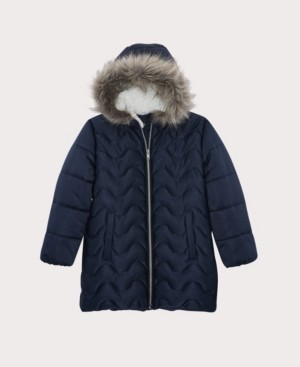 S. Rothschild Big Girls Wave Quilt Stadium Jacket