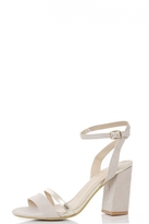 Quiz Nude Barely There Gold Strap Sandals