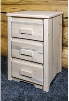 Abella 3 Drawer Nightstand Loon Peak Color: Clear Lacquer