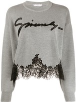 Givenchy lace hem knit jumper