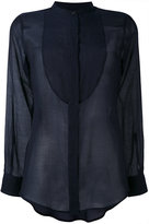 Alberto Biani sheer bib shirt - women - Silk/Cotton - 40