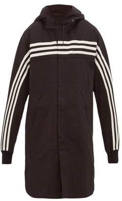 Y-3 Y 3 Longline Cotton Blend Hooded Overshirt - Mens - Black
